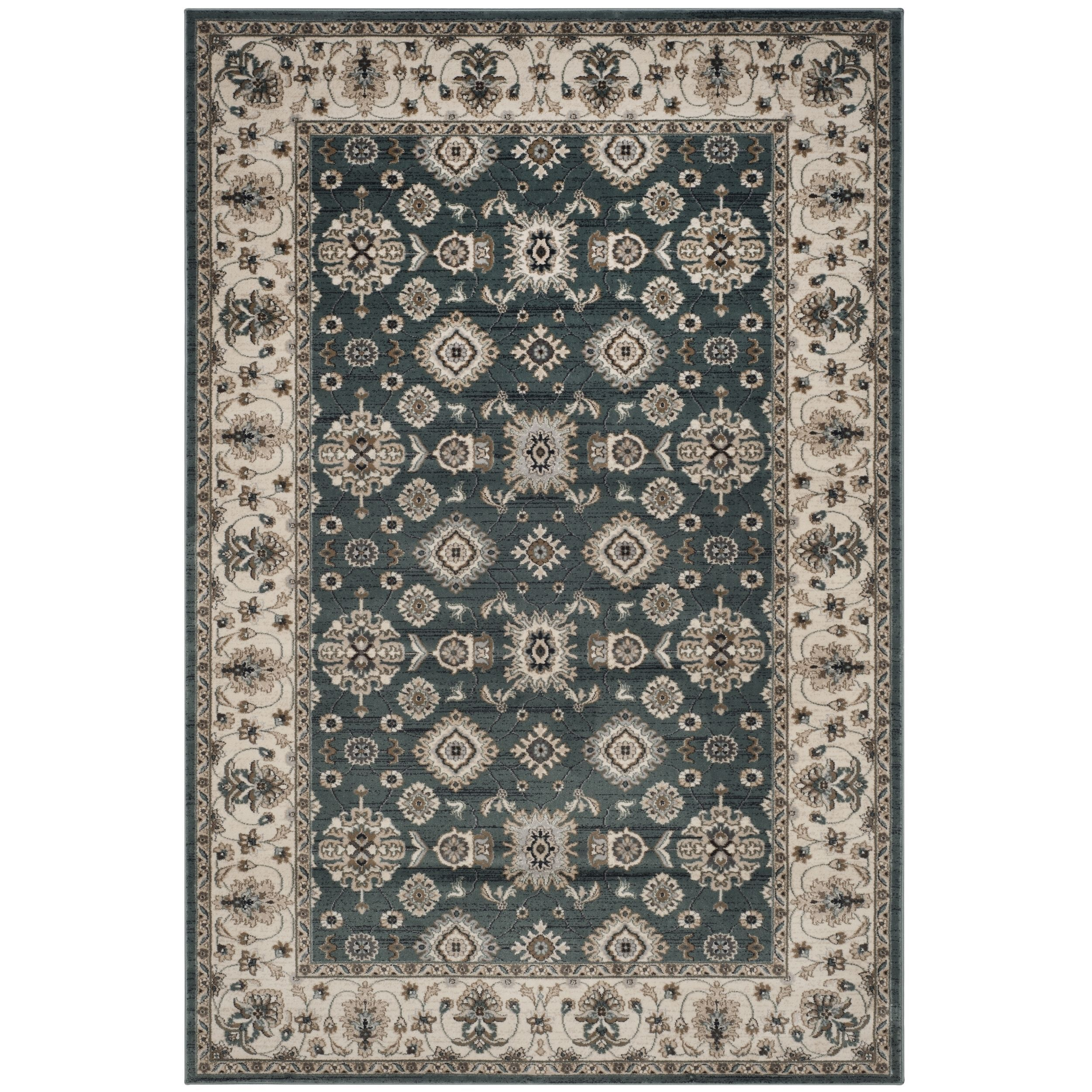 Safavieh Lyndhurst Traditional Oriental Teal Blue Cream Rug 8 X 10 Lnh332t 810 Size