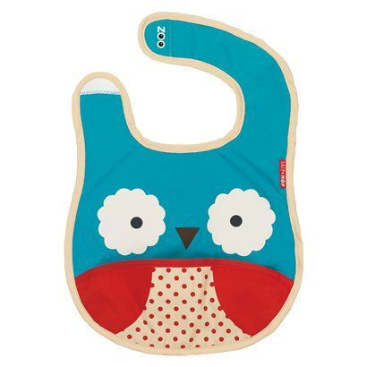 """Skip Hop Zoo Tuck-Away Bib Owl...you'll want a few cute ones for """"going out"""" but the others really do get used/gross...so they don't need to be fancy"""