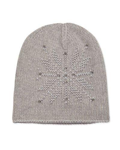 56e5e9262af20 D15KR Loro Piana Baby Cashmere® Snowflake Hat