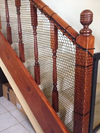 Mom Hack Easy Inexpensive Diy Banister Guard Diy Baby