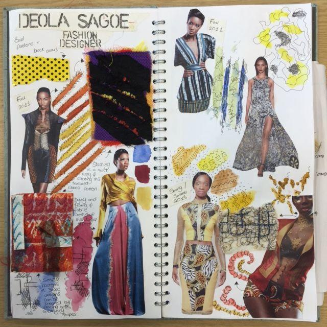 Fashion Designer Research Daisy Sketch Book Fashion Design Sketchbook Textiles Sketchbook