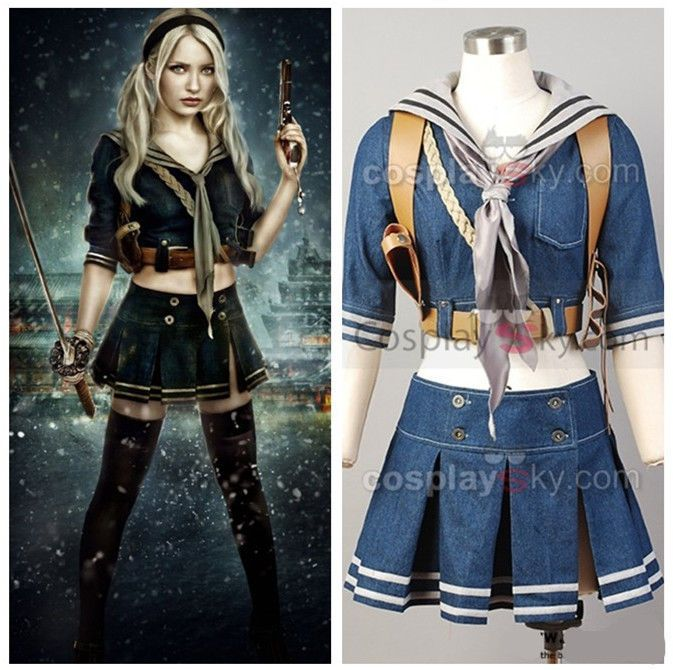 Details zu Sucker Punch Baby Doll Kleid Uniform Cosplay Kostüm für ...