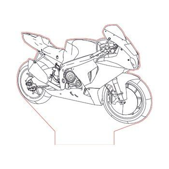 Suzuki GSX-R1000 bike 3d illusion lamp plan vector file
