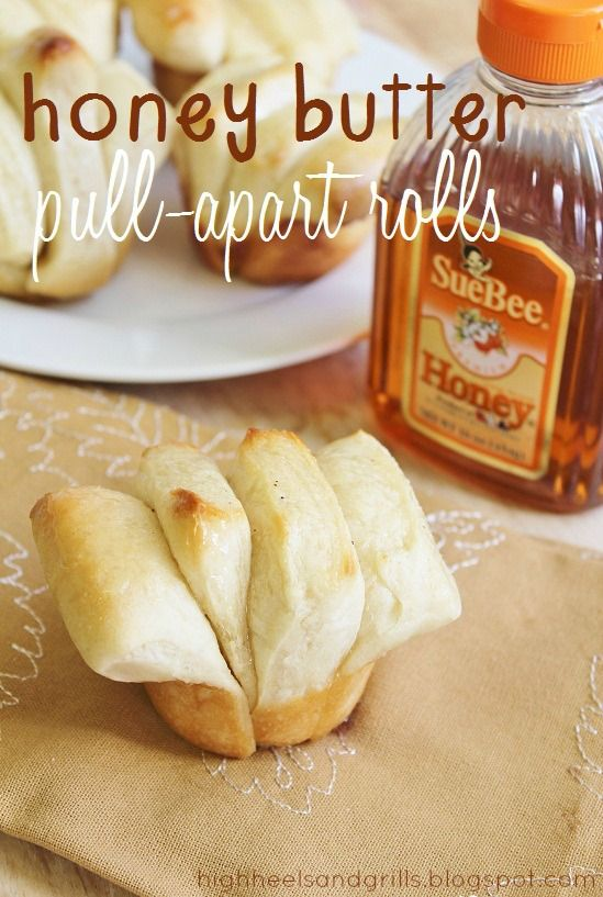 Honey Butter Pull-Apart Rolls // High Heels and Grills. Umm, you have got to make these rolls ASAP. They're the best rolls you will ever have in your life! Talk about melt in your mouth goodness!