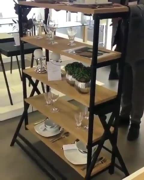 Brilliant dining cum utility shelf plan!