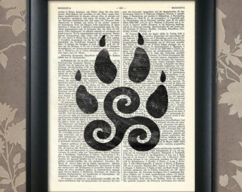teen wolf print – Etsy | Triskelion tattoo ideas ...