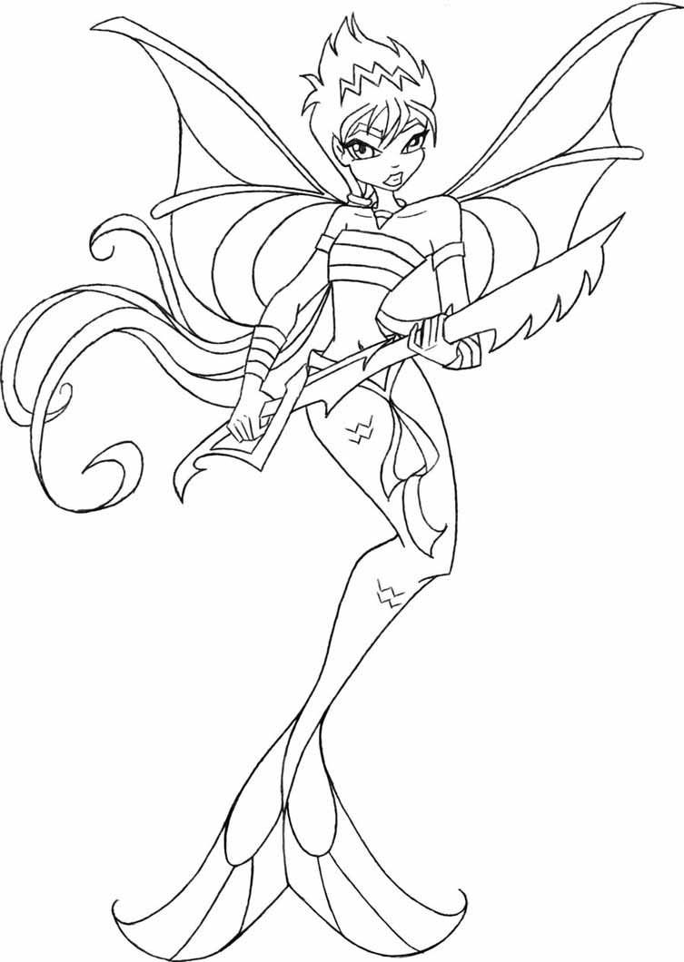 Winx Mermaid Coloring Pages Mermaid Coloring Pages Mermaid Coloring Cartoon Coloring Pages