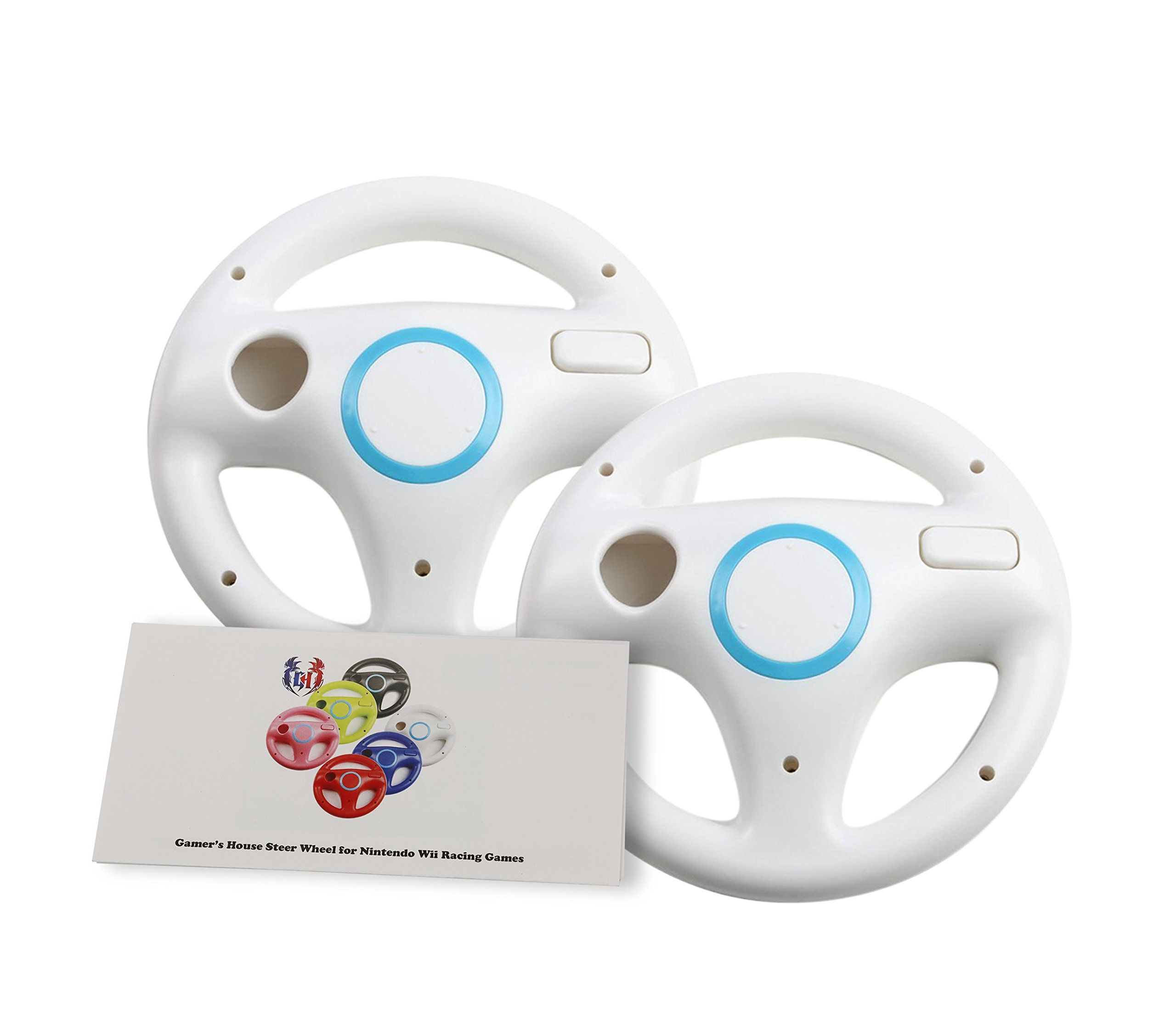 Gh 2 Pack Wii Steering Wheel For Mario Kart 8 And Other Nintendo Remote Driving Games Wii U Racing Wheel For Remote Plus Cont Wii Accessories Mario Kart Wii
