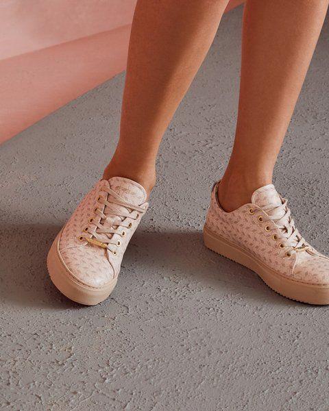 8b7fdb3f20c6 Flamingo embossed leather sneakers - Pink