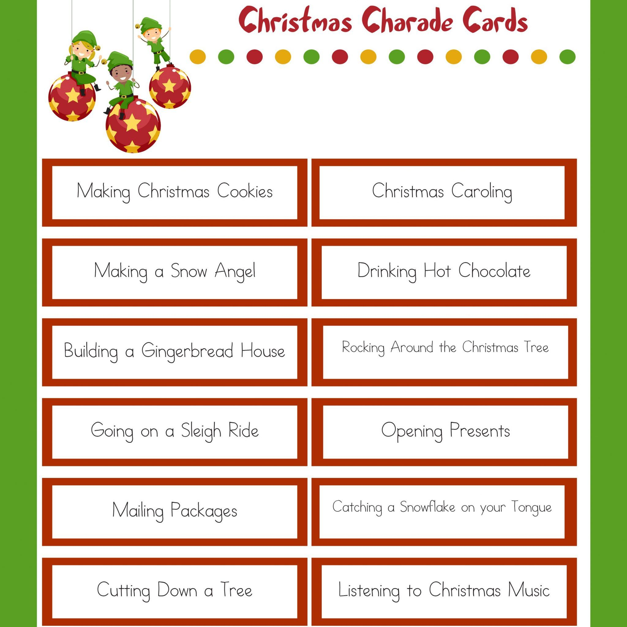 Christmas Charades.Christmas Charades Christmas Games Funny Christmas Party