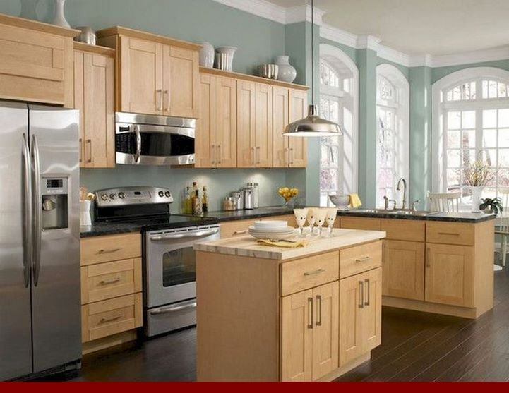 Examples of - honey oak kitchen cabinets with granite countertops.  #oakkitchencabinets #kitchenisland #honeyoakcabinets Examples of - honey oak kitchen cabinets with granite countertops.  #oakkitchencabinets #kitchenisland #honeyoakcabinets