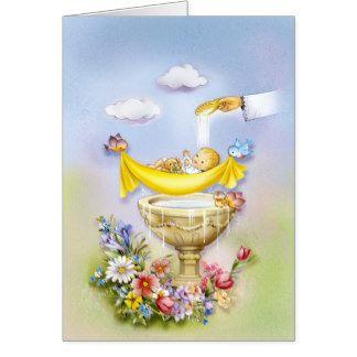 Tarjeta felicitacion bautizo