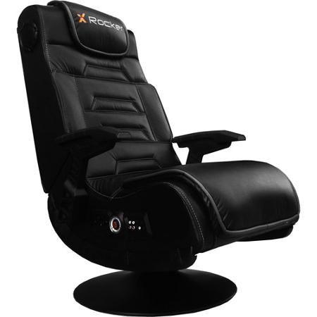 X Rocker Pro Series Pedestal 2 1 Wireless Audio Gaming Chair Black 51396