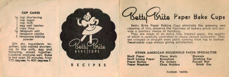 Vintage Betty Brite Muffins Cupcakes Recipe Folder With Images