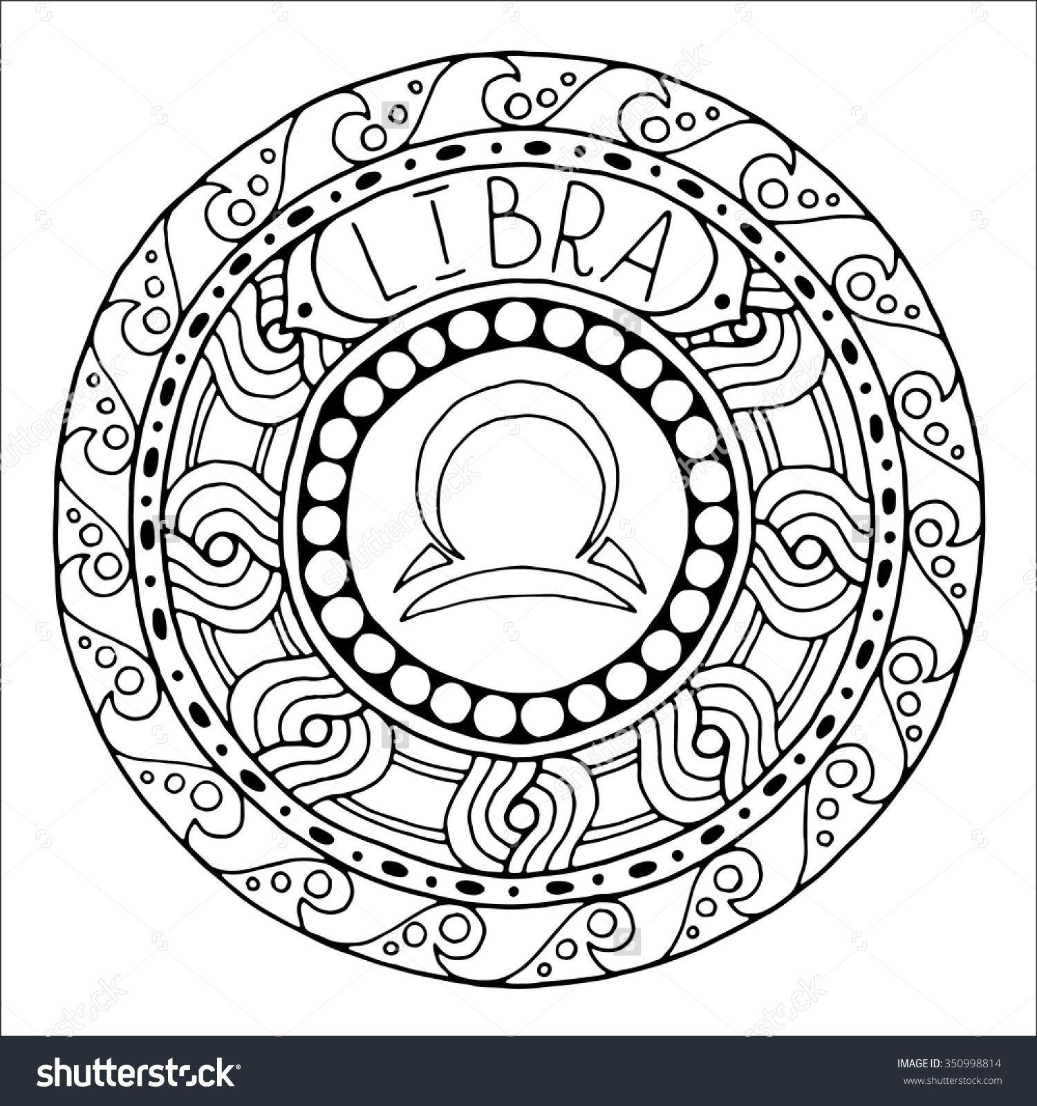 Zodiac Sign Of Libra Shutterstock 350998814