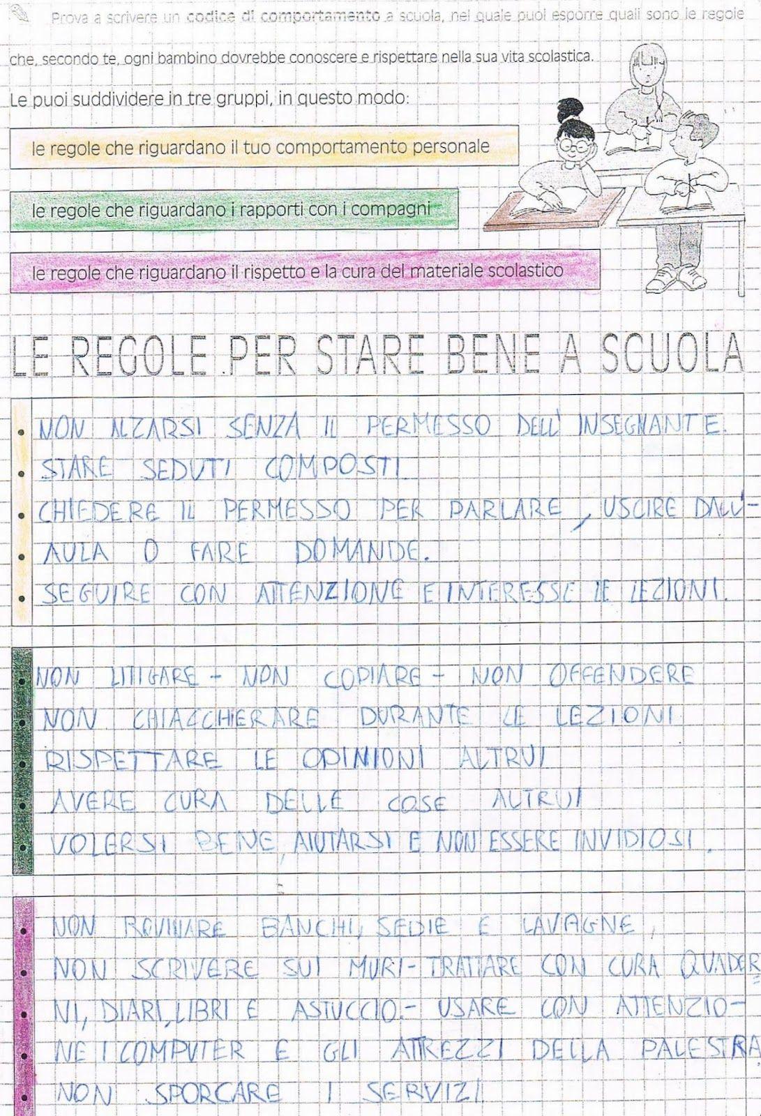 Bien-aimé Prova a scrivere un codice di comportamento a scuola nel quale  PS21