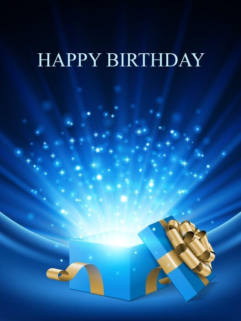 Blue Present Surprise Free Birthday Cards Alles Gute Zum