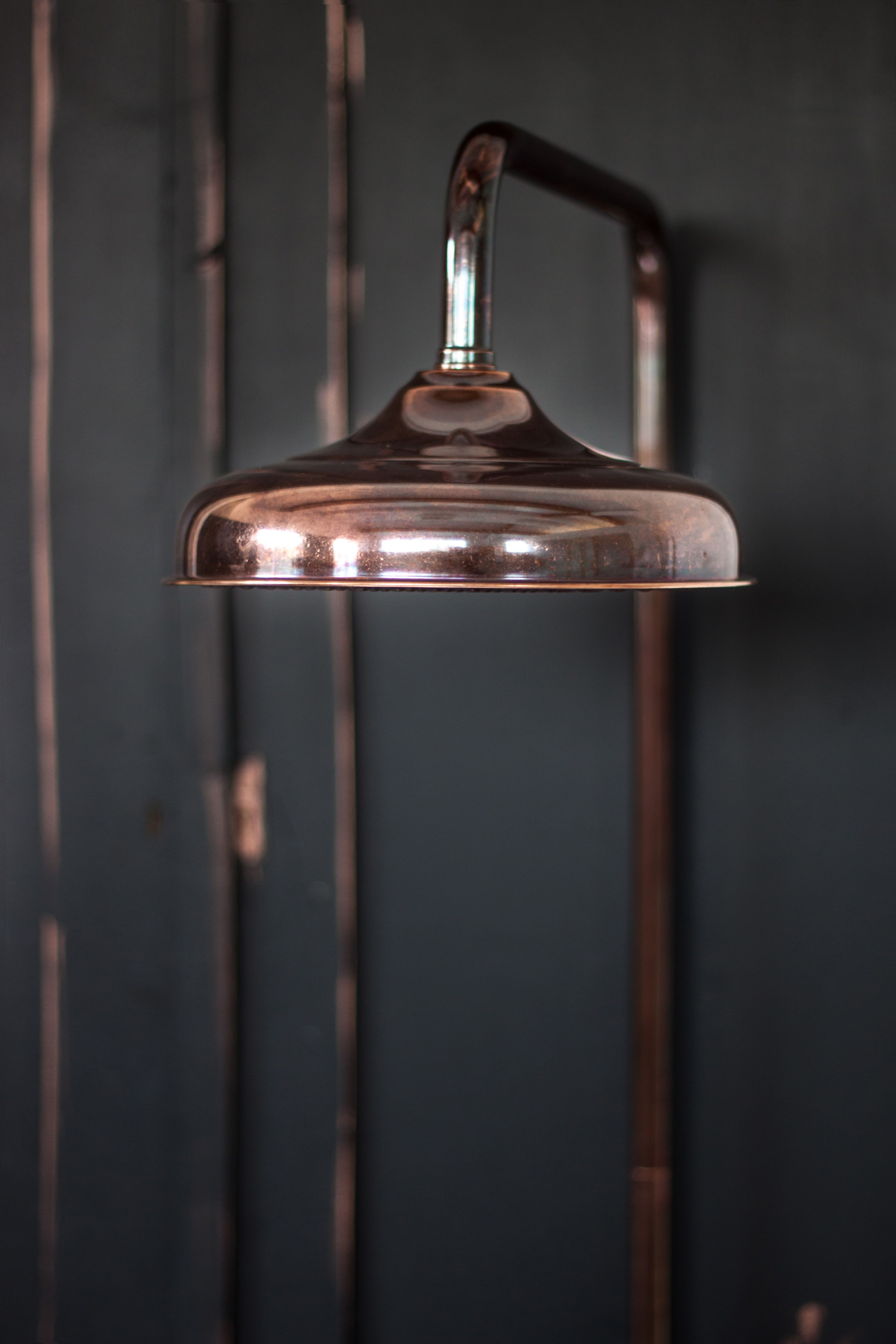 Industrial Shower The Thermo Exposed Shower In Aged Copper Finish By