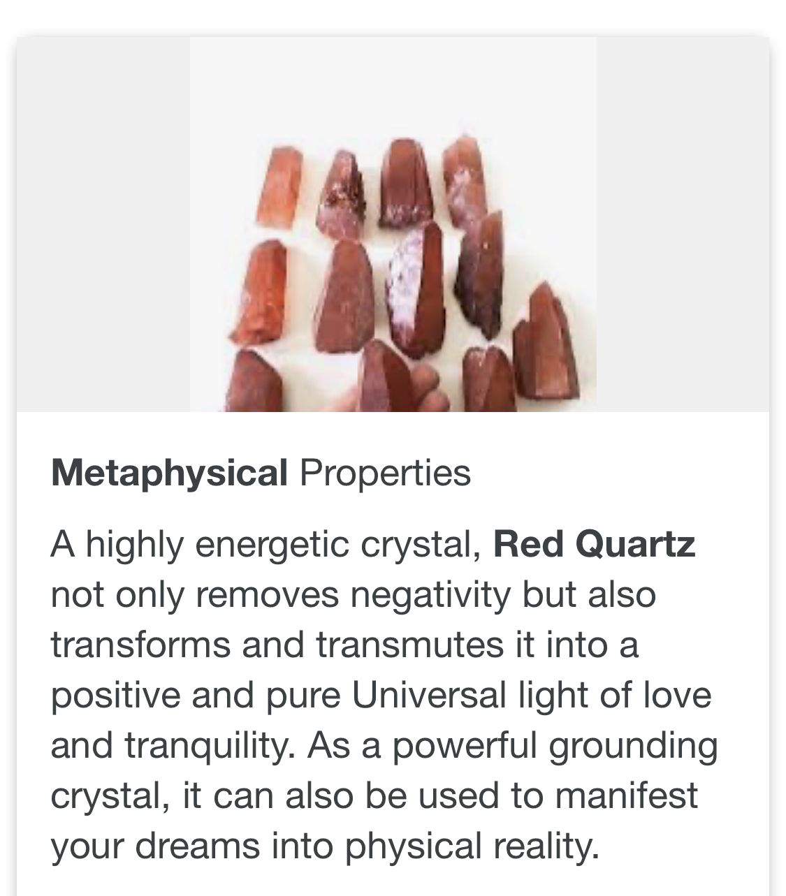 Pin By Precious Mcgill On Crystal Healing Red Quartz Crystals Pure Products