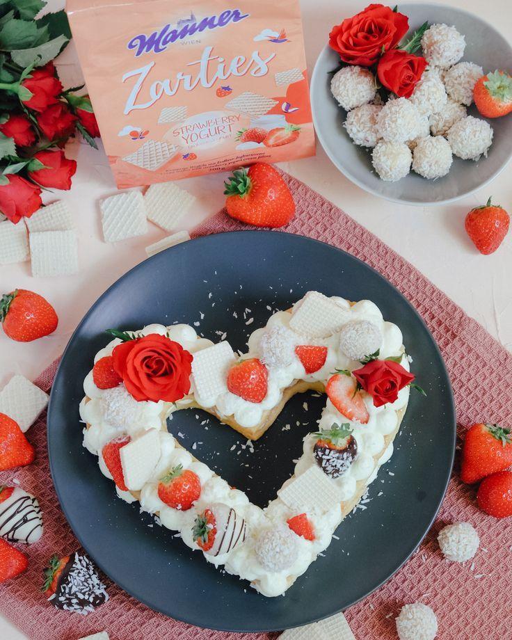 Letter Cake in Herzform | Rezept für Muttertag