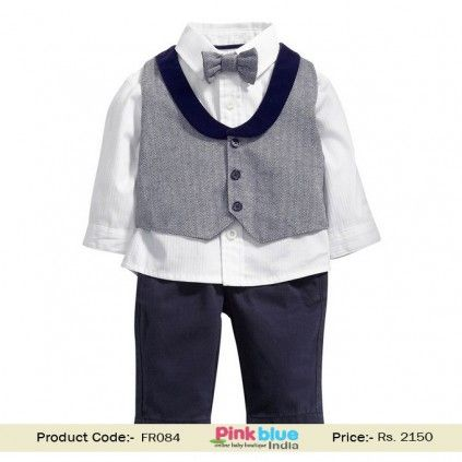 Baby Boys /& Boys White Top /& Grey Jog Pants Trousers Outfit 3 Mth 6 Years