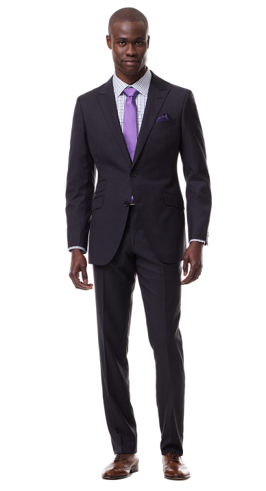 Charcoal Fuschia Pinstripe Suit Well Dressed Men Mens Outfits Suits