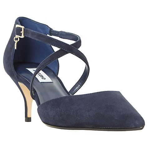 ac431a703b Buy Dune Courtnee Cross Strap Kitten Heeled Court Shoes Online at  johnlewis.com