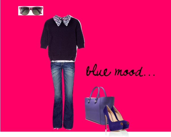 """blue mood"" by giulia-z on Polyvore"