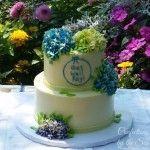 2-Tier Buttercream Hydrangea Cake