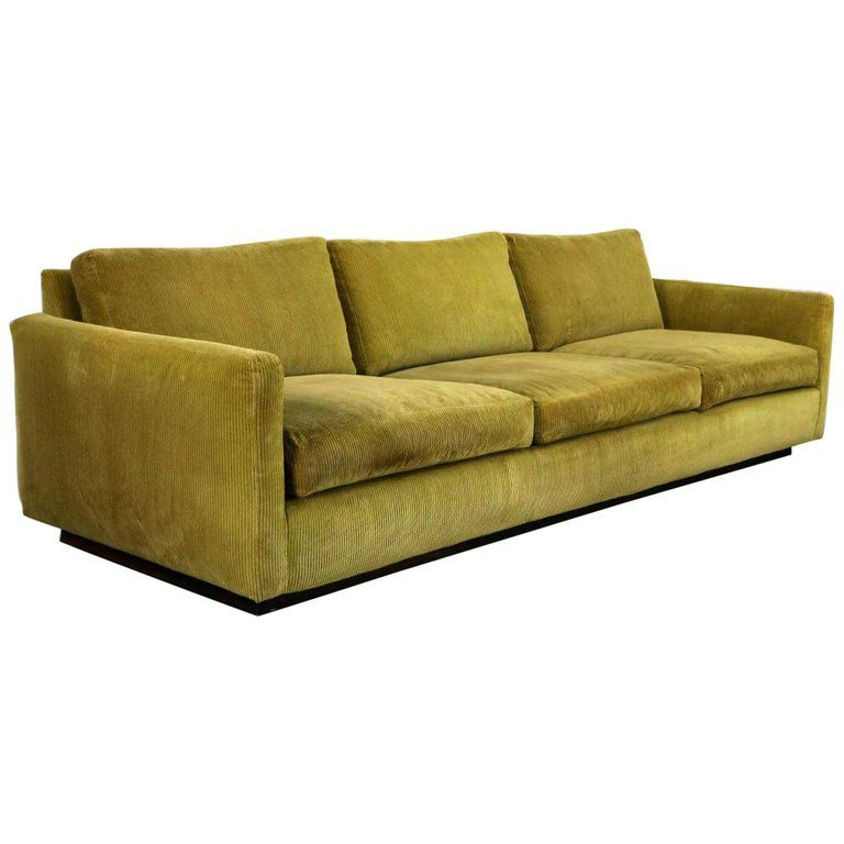 Lawson Style Wide Wale Corduroy Sofa By Milo Baughman For Thayer Coggin Products In 2019 Corduroy Couch Milo Baughman Sofa