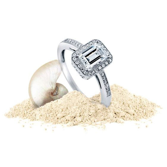 She swoons over emerald by the seashore.   More Emerald-Cut Ring >> http://www.berricle.com/jewelry-rings.htm?stonecut=232&utm_medium=organic&utm_campaign=vacation&utm_source=pinterest