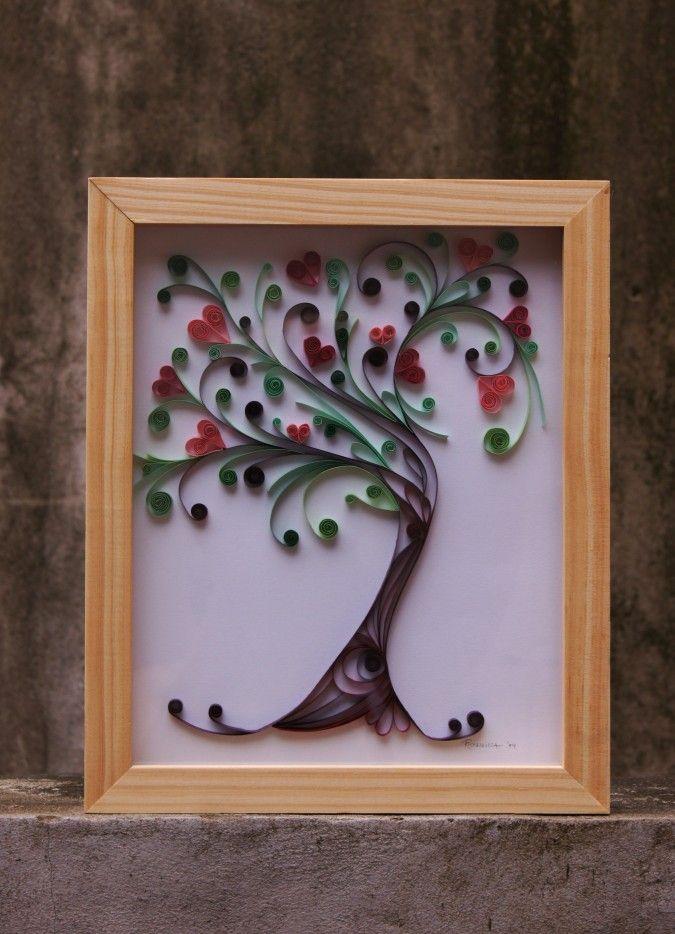 Cuadro Árbol de la vida (Filigrana de papel) | Feria Central