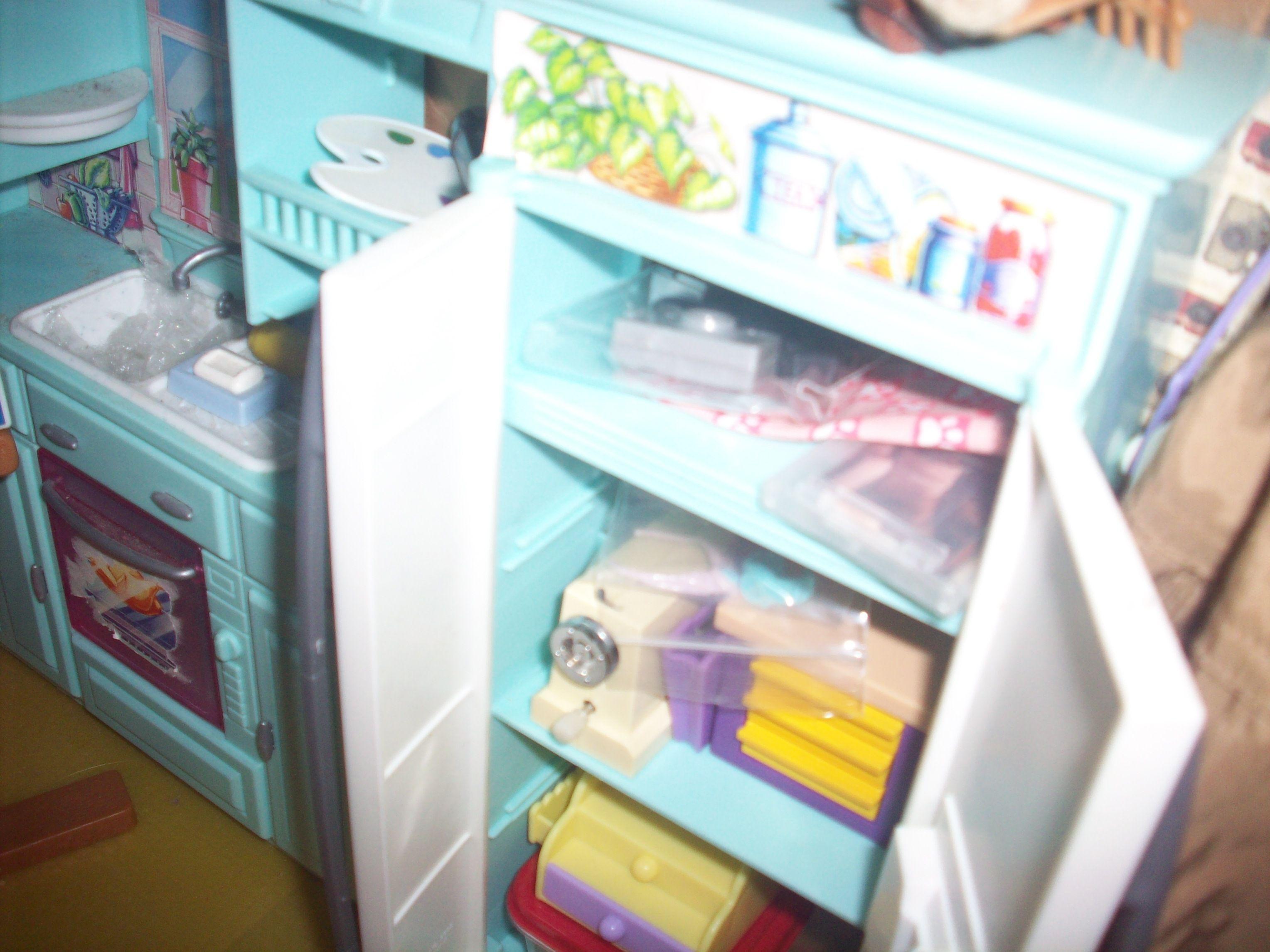 1:6 OOAK dollhouse art studio using a Barbie kitchen wall unit ...