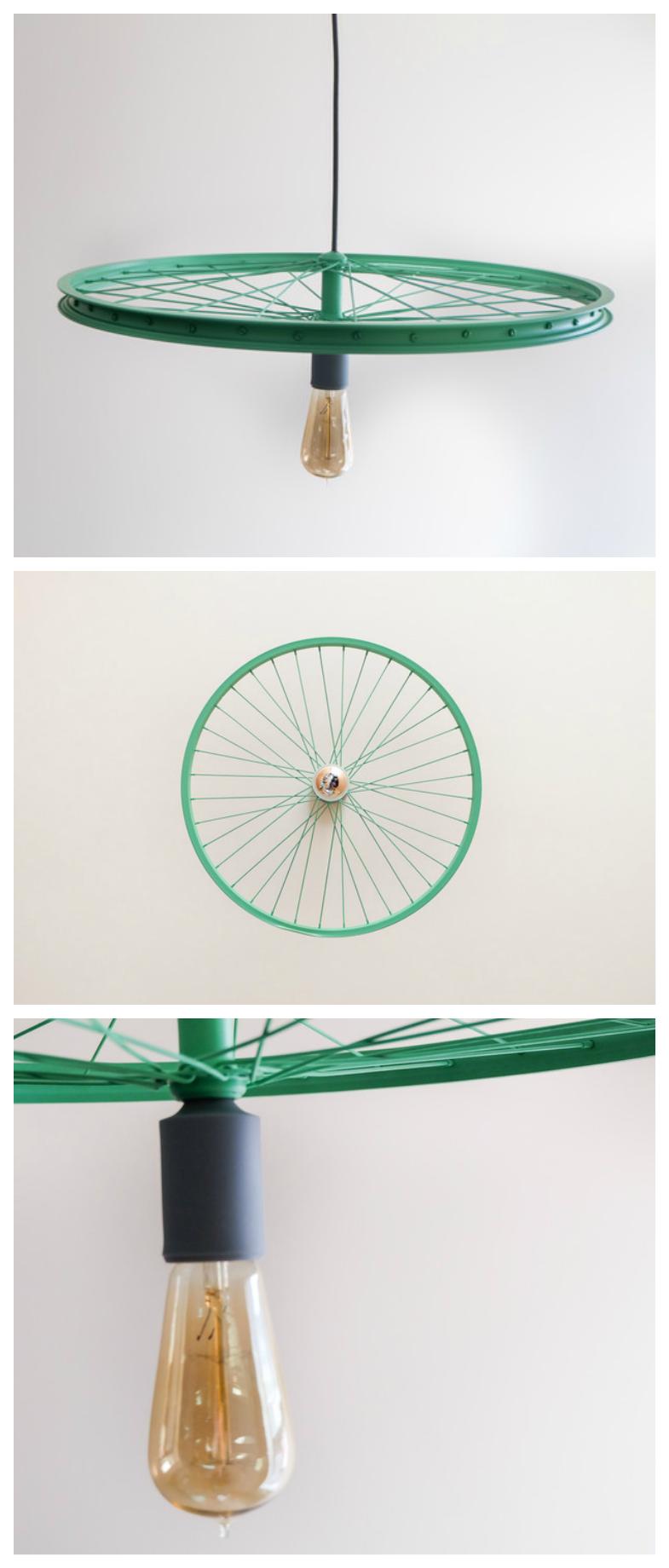 Hangelampe Aus Einem Fahrradreifen Upcycling Wohndeko Hanging