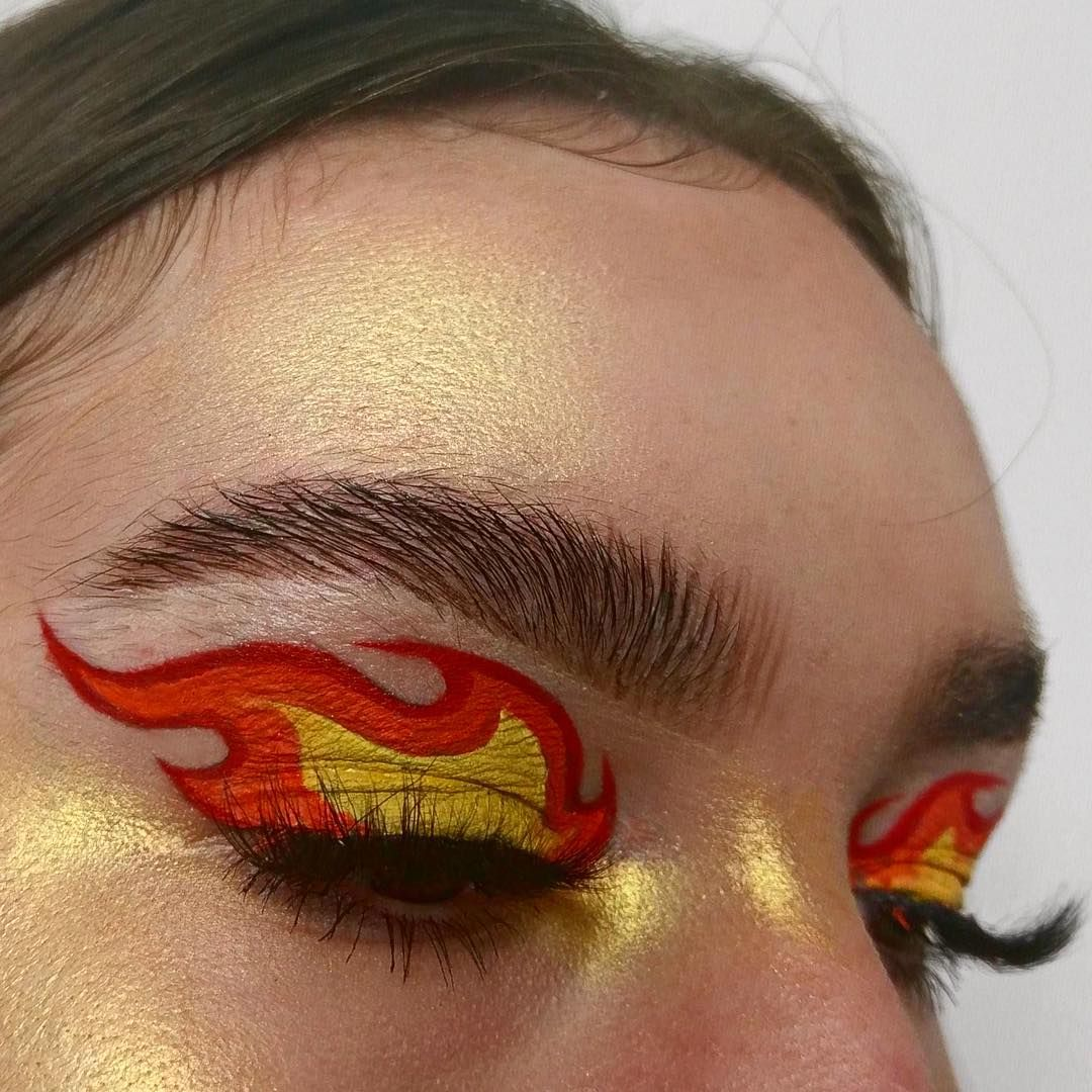 "𝔯𝔬𝔰𝔦𝔢 🦋 on Instagram: ""MGSV (3/4) 🔥 Man on Fire 🔥 . @anastasiabeverlyhills Dipbrow in Dark Brown @makeupgeekcosmetics Voltage for highlight w/ @katvondbeauty Star…"""