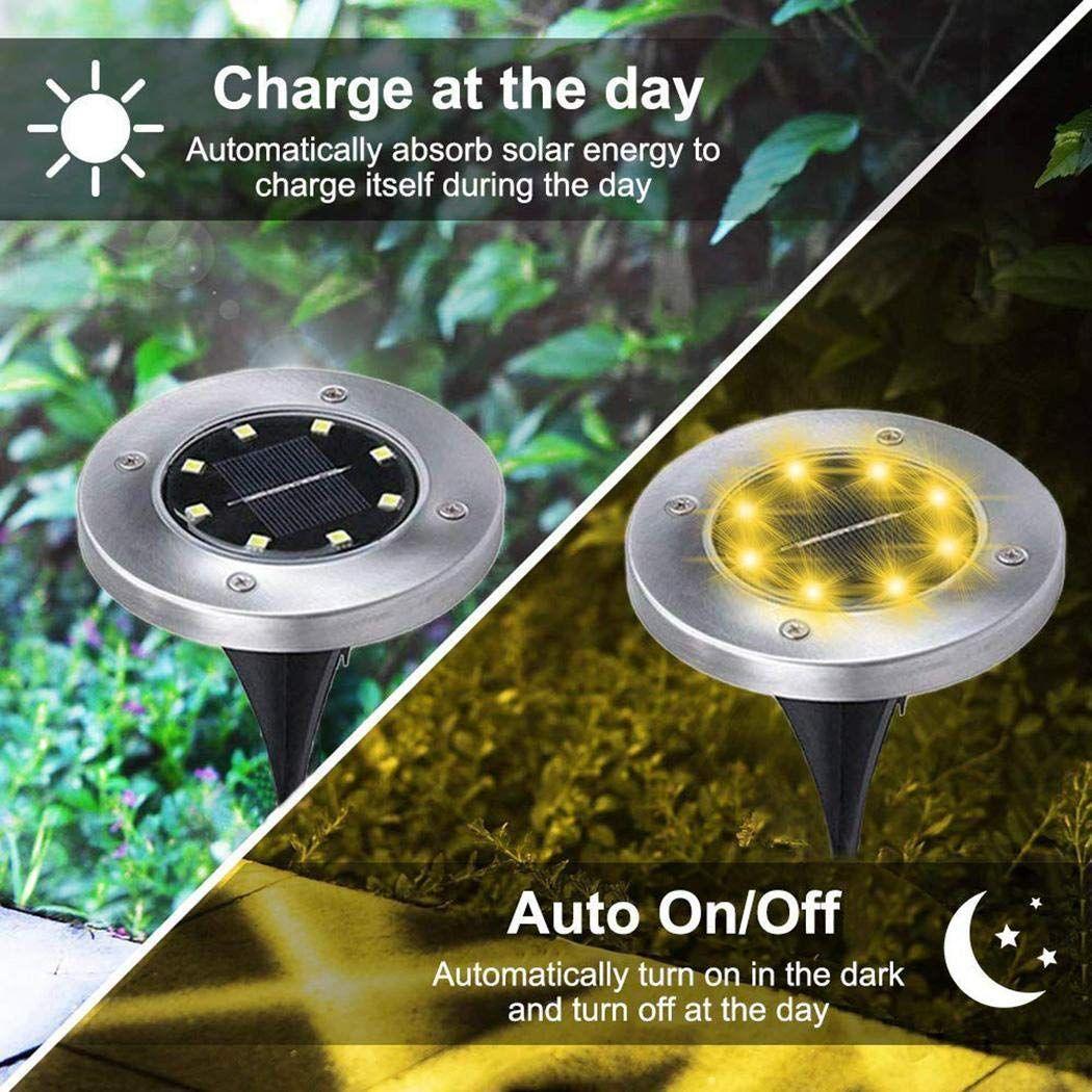 Adoeve Outdoor 1Pc Solar Lawn Light Waterproof Garden