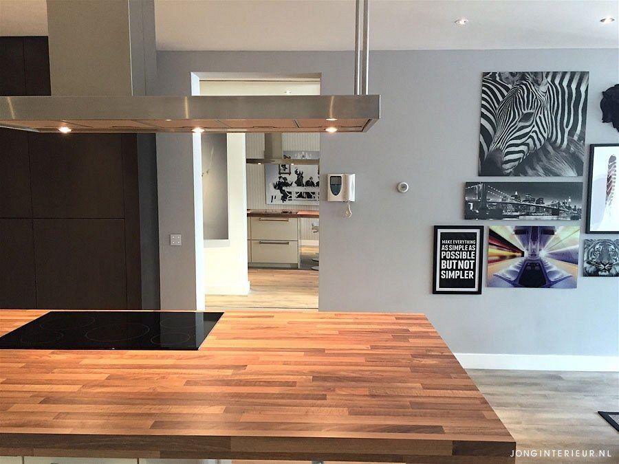 Keukeneiland hout Interieurstylist Stephanie de Jong #Woonkamer ...