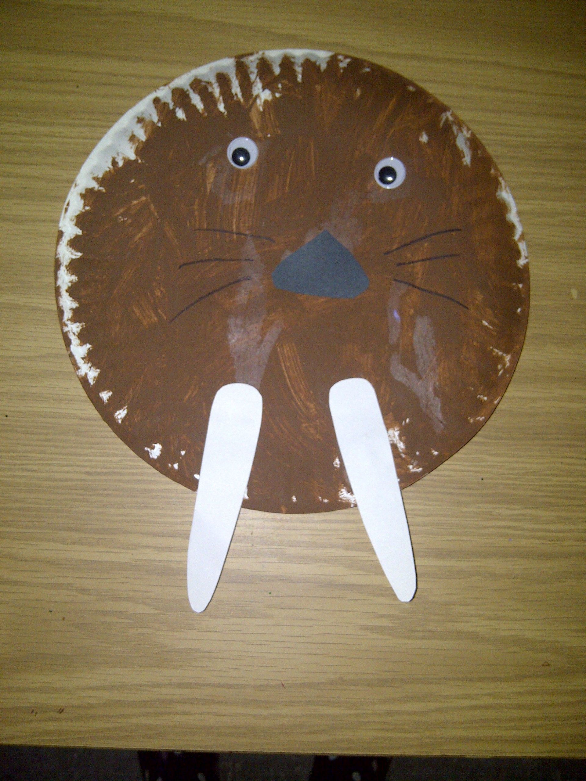 Paper plate walrus. & Paper plate walrus. | Preschool Crafts / U - Z | Pinterest ...