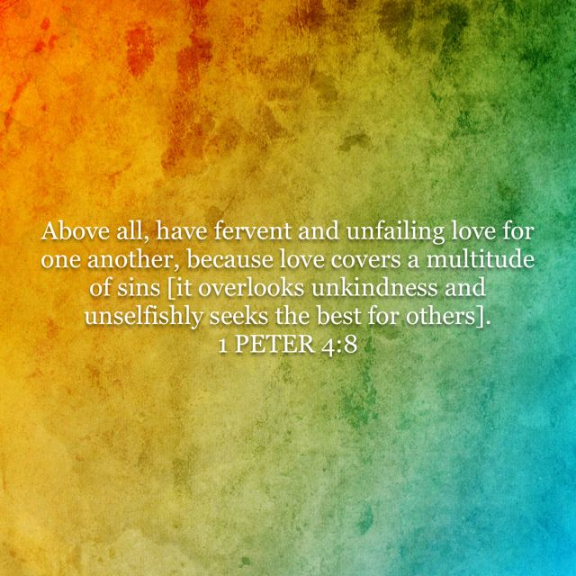 Peter Above All Have Greek Word Was Used To Describe The Taut Stretched Muscles Of A Runner Winning His Race Fervent And Unfailing Love For One Another