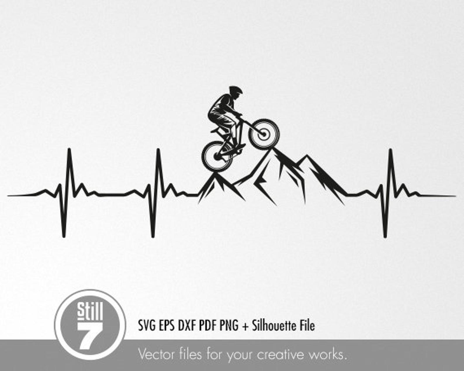 Mtb Svg Mountain Bike Svg Man Mountain Biker Svg Downhill Svg Eps Png Pdf Dxf Svg Silhouette File Bike Drawing Mountain Bike Art Bike Logos Design
