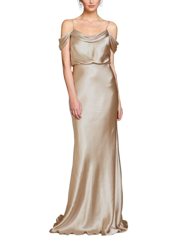 f968ec9d044 Take a look at this gorgeous Jenny Yoo Sabine Liquid Charmeuse bridesmaid  dress in shiny gold fabric! Available in sizes 2-24 and tons of colors at  ...