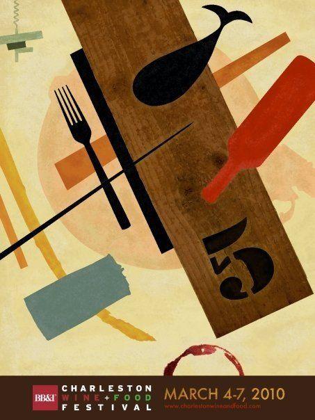 Braxton Crim: Graphic Design: 2010 Charleston Wine & Food Poster