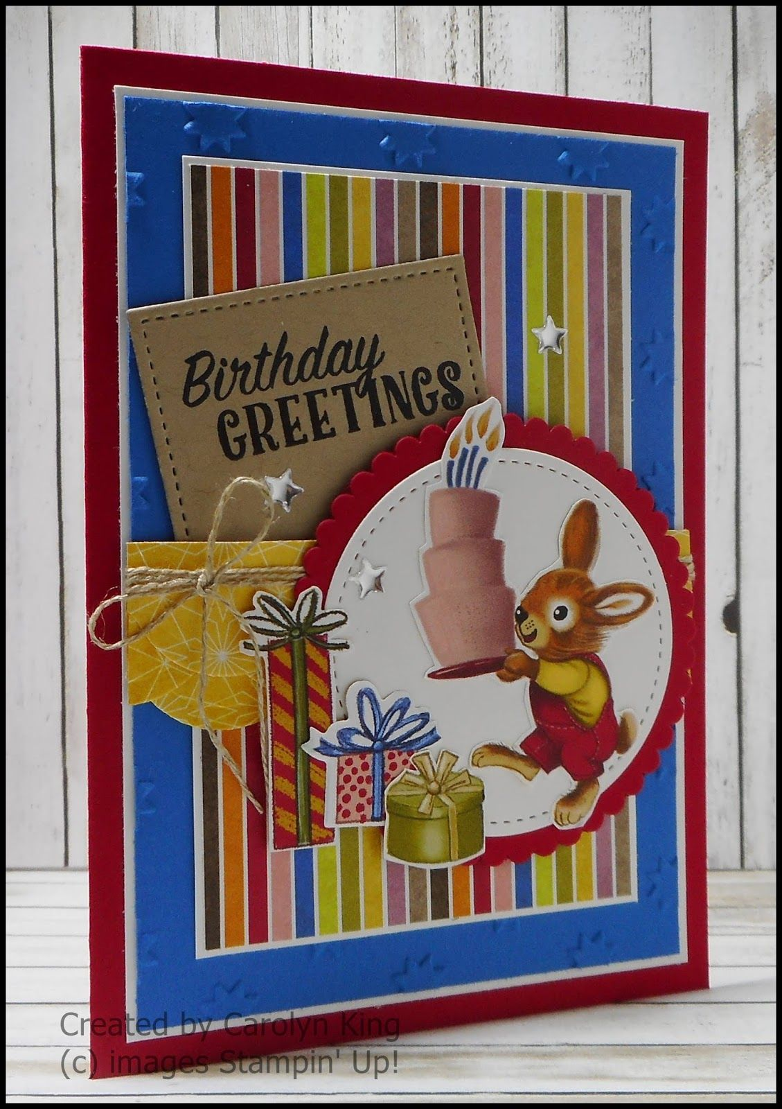 Birthday Delivery Bouquet Carolyn King Independent Stampin Up R Demonstrator Cards For Boys Happy