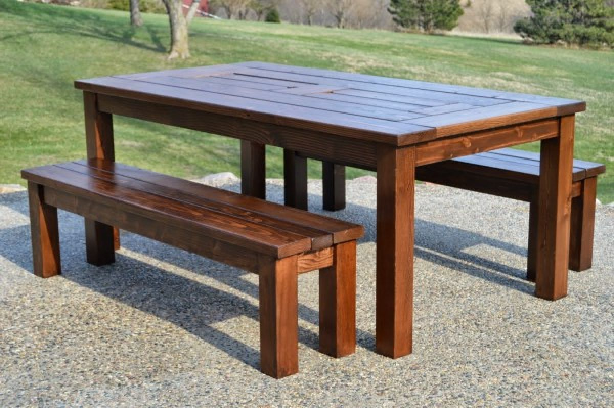 Make Your Own Patio Table With Built In Ice Boxes Wooden