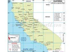 California Latitude Longitude Map   Digital File | #store