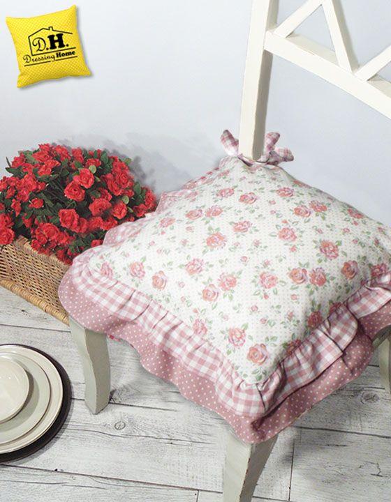 Cuscini cucina.cuscino per sedie cucina in stile country a quadri rossi. Il Favoloso Cuscino Per Sedia Di Angelica Home Country Della Collezione Rose Couture Nella Variante Flo Cuscini Per Sedia Cuscini Per Sedie Da Cucina Cuscini