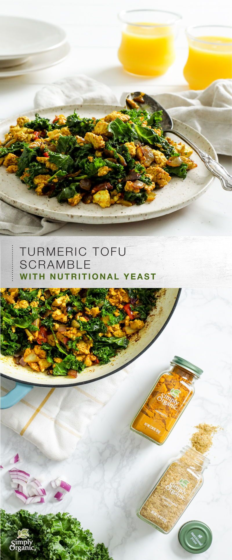 Vegan Turmeric Tofu Scramble With Nutritional Yeast