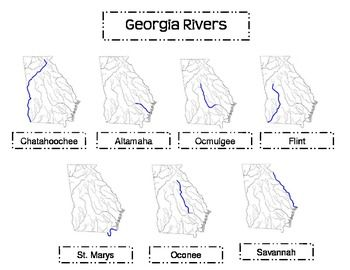 Georgia Rivers SONG This Is A Great Resource To Help Students - Georgia map label