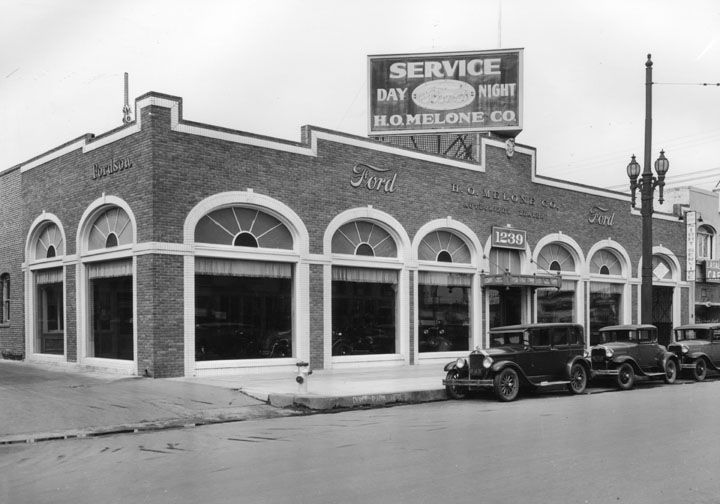 H O Melone Company Ford Dealership Circa Early 1930 S In L A