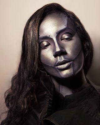 Cyborg Maquillaje halloween, Halloween y Maquillaje